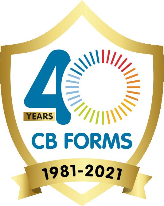 40th anniversary cb forms logo